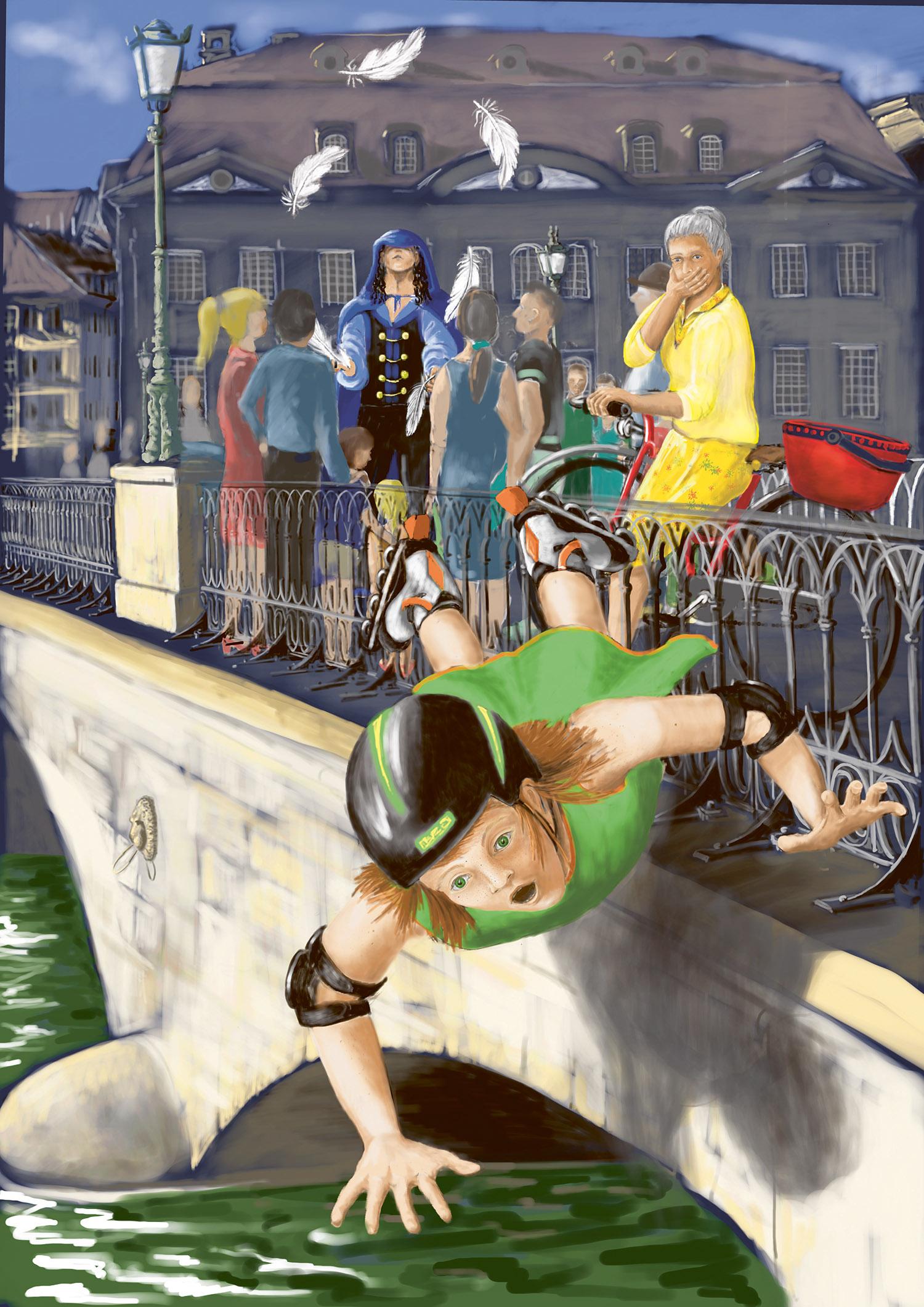 Illustration: Nikky und die Macht der sieben Federn